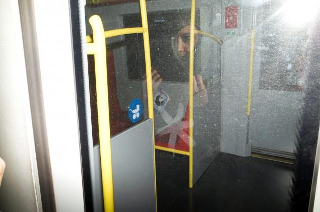 Mirror mirror on the train.